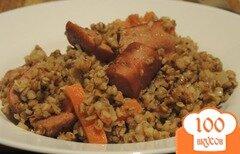 Фото рецепта: «Греча с овощами и сосисками»