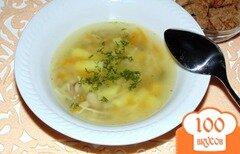 Фото рецепта: «Грибной суп из вешенок с вермишелью»