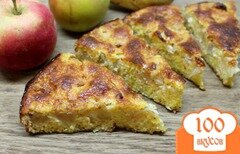 Фото рецепта: «Творожная запеканка на кукурузной крупе, с яблоком, имбирем и корицей»