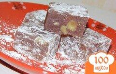 Фото рецепта: «Домашний рахат-лукум с вишневым сиропом и орехами»