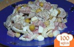 Фото рецепта: «Салат из маринованных вешенок, ветчины и яиц»