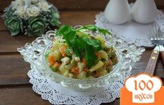 Фото рецепта: «Немецкий салат с кальмаром и огурчиком»