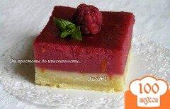 Фото рецепта: «Лимонно-малиновое пирожное»