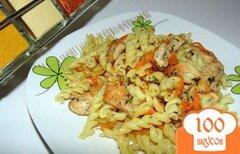 Фото рецепта: «Макароны с маринованным мясом индейки»