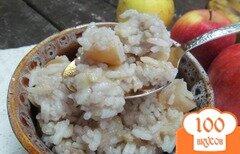 Фото рецепта: «Рисовая каша с бананом и яблоком в мультиварке»