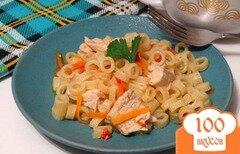Фото рецепта: «Макароны с куриной грудкой и овощами в мультиварке»