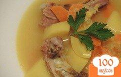 Фото рецепта: «Гороховый суп с рёбрышками»
