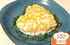 Фото рецепта: «Белковый омлет с творогом и кукурузой»