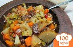 Фото рецепта: «рагу из овощей и фруктов с мясом»