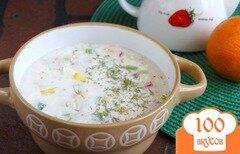 Фото рецепта: «Холодный овощной суп на кефире»