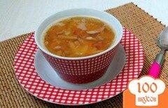 Фото рецепта: «Гороховый суп с копчёными сосисками»