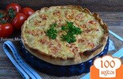Фото рецепта: «Открытый пирог с мясным фаршем»