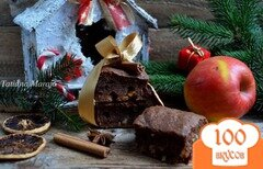 """Фото рецепта: «Брауни """"Рождество""""»"""