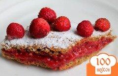 Фото рецепта: «Овсяные пирожные с клубникой»
