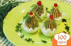 Фото рецепта: «Фаршированные яйца к Новогоднему столу.»