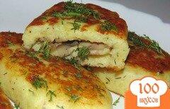 Фото рецепта: «Картофельные зразы с начинкой из шампиньонов»