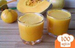 Фото рецепта: «Тыквенно-мандариновый фреш с яблоком»