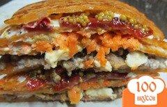 Фото рецепта: «Слоенный бутерброд из лепешек»