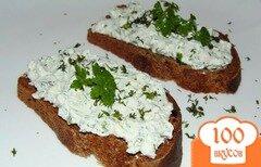 Фото рецепта: «Творожный крем с укропом для бутербродов»