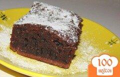 Фото рецепта: «Шоколадный пирог на молоке и подсолнечном масле»