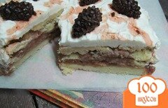"Фото рецепта: «Пирог ""Шишки на снегу""»"