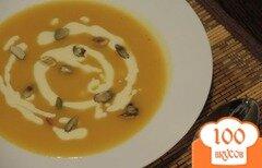 Фото рецепта: «Суп-пюре с тыквой и яблоком»