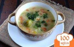 Фото рецепта: «Сырный суп с брюссельской капустой»