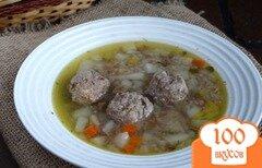 Фото рецепта: «Суп с говяжьими фрикадельками в мультиварке»