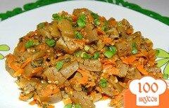 Фото рецепта: «Баклажаны с луком и морковью»