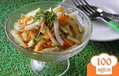 Фото рецепта: «Салат с кальмаром и свежим огурцом»