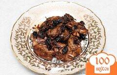 Фото рецепта: «Жареная куриная печень с черным изюмом»