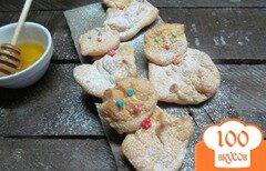 """Фото рецепта: «Безе печенье """"котята""""»"""