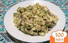 Фото рецепта: «Салат с вёшенками и рисом»
