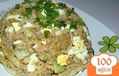 Фото рецепта: «Гарнир из стручковой фасоли, риса и яиц»