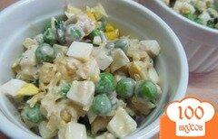Фото рецепта: «Нежный салат из замороженного горошка»