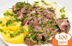 Фото рецепта: «Отварной говяжий язык»