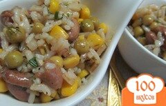 Фото рецепта: «Салат из бобовых и риса»