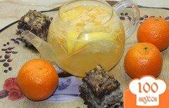 Фото рецепта: «Имбирный чай с лимоном, мандаринами и медом»