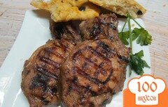 Фото рецепта: «Маринованные стейки на гриле»