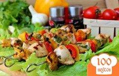Фото рецепта: «Шашлык с курицей и овощами»