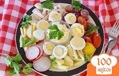 Фото рецепта: «Салат с отварной курицей»