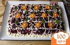 Фото рецепта: «Селедка под шубой с грецкими орехами»