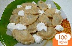 Фото рецепта: «Вареники с картофелем и опятами»