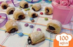 """Фото рецепта: «Печенье """"Фруктовые полосочки""""»"""