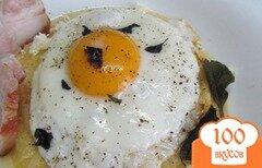 Фото рецепта: «Полента с яйцом и сыром»