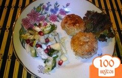 Фото рецепта: «Тефтели из мяса индейки с яблочной начинкой»