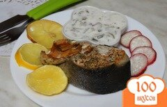 Фото рецепта: «Запеченная горбуша с пикантным соусом»