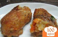 Фото рецепта: «Котлеты в куриной коже»