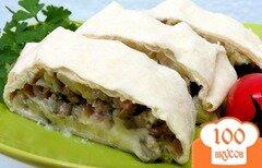 Фото рецепта: «Лаваш с картофелем, мясом и капустой»