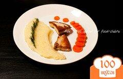 Фото рецепта: «Куриное филе с картофельным пюре. Как приготовить картофель пюре.»
